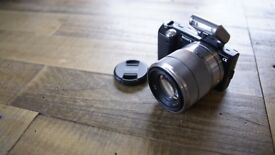 Sony NEX-5 With 18-55 power zoom lens & flash