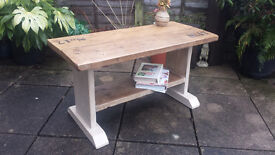 Hand made Rustic Console/coffee table
