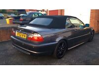BMW 320 ci Convertible M-Sport, 2003, Grey, 2.0 Petrol, 10 MONTHS MOT, Taxed, Electric Roof.