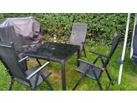 Garden patio glass table and chairs outdoor furniture