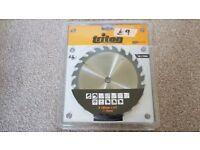 190mm triton saw blade 16mm bore 24t £9