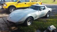 1978 corvette drive and run needs a interior nice project