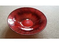 Dark red and gols decorative bowl