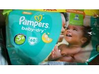 Pampers baby- dry size 5+, Pampers pants size 6, other trainer pants