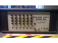 Sound City 120R Custom Mark 4 P.A Head Amplifier vintage