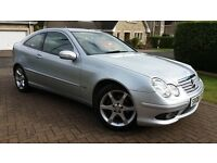 Mercedes C200 Sports Coupe 63K miles MOT to Jan 18 FSH Warranty available