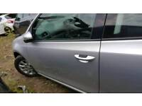 Vw golf mk6 nearside front door 3dr la7w silver 09-13