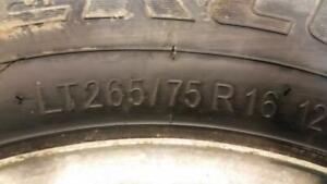 GMC WINTER TIRES WITH RIMS 265/75/16