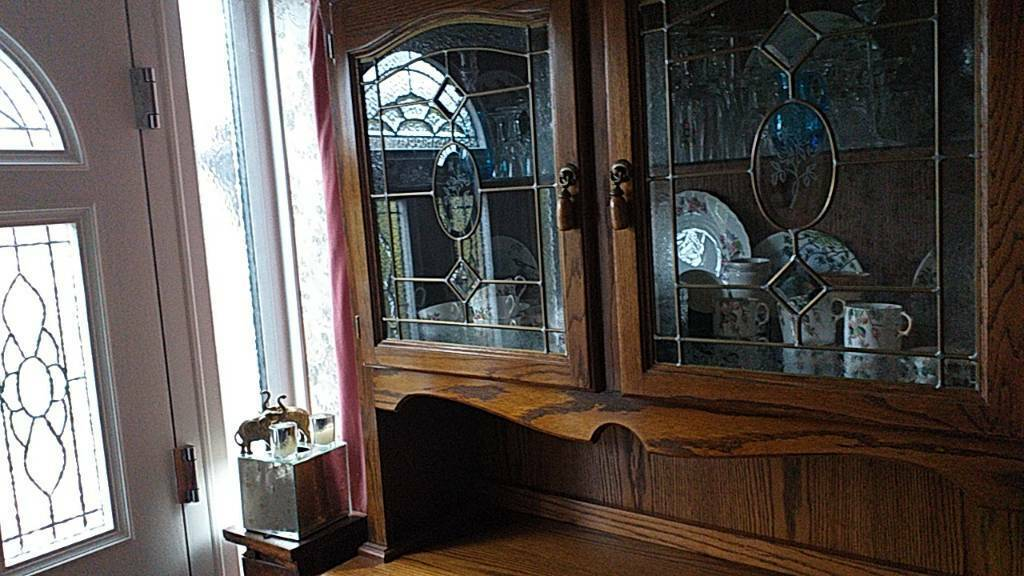 Solid Oak Dining Living Room Cabinet