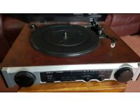 Record Player - New plays 33/45/78 with AM/FM Stereo Radio