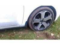 Kia Rio 2013 diamond cut alloys (minor damage) - Two available