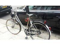 URGENT Beautiful vintage PEUGEOT TRADITION road bike, 3 speed, frame locks, original bell