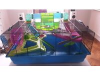 Very large hamster cage and accessories fit for the King or Queen of Hamsters