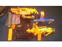 NERF gun and accessory collection