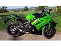 KAWASAKI ER6F-650R Ninja Sport Touring Motorcycle. 2012 62 Reg. 650cc Spyball Alarm-Immobiliser