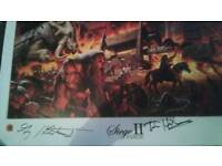Siege II Signed lithograph pic