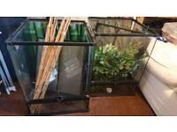 2 Exo terra 45*45*60 glass terrarium for sale