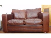 TWO - 2 Seater Leather Sofas (Excellent Condition)