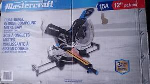 NEW in BOX Mastercraft Dual-Bevel Sliding Mitre Saw 12 inch Laser Compound Miter Saw 4,200-RPM