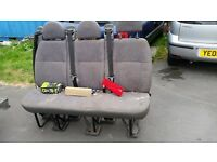 Triple mini bus seat