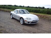 2004 Mazda MX5 1.6 Euphonic Limited Edition, low mileage, silver, soft and hard top