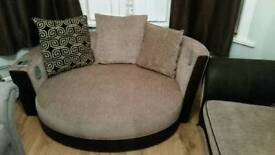 Dfs large 3 seater sofa and large cuddler