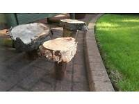 3 homemade garden toad stools