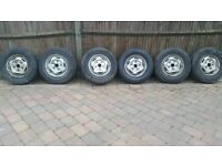 6 transit wheels with tyres. 205/75/16