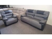 ScS Venus 3 Seater Manual Recliner Sofa & Electric Recliner Armchair **CAN DELIVER**