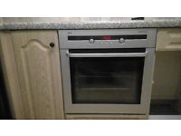 AEG Competence Integrated Fan Oven, Matt Silver/Black Finish, Glass Door: Excellent, Clean Condition