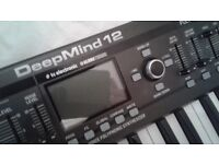 DEepMind 12 - 12 Voice Analogue Poly Synth - Boxed with Manual. Free Stand