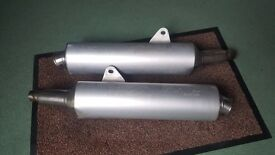 2001 DUCATI MONSTER EXHAUST SILENCERS LEFT & RIGHT