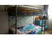 bunk bed with mattras