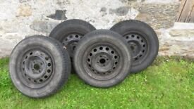 4 Tyres on Rims - Continental Eco Contact 3 185/70 R14 88T