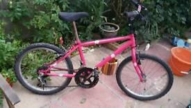 Pink girls bike. Very good condition