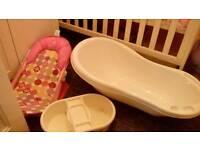 Baby bath set unused