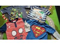4 x t-shirts age 1 1/2-2. Spiderman, superman, ben 10 and planes