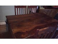 Solid wood dining table with 4 chairs!