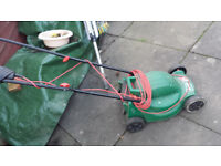 qualcast easitrak lawn mower with collection box