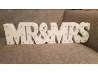 Mr and Mrs light up sign