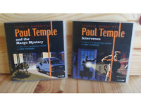 TWO AUDIO BOOKS ON CD - PAUL TEMPLE STORIES BY FRANCIS DURRBRIDGE