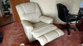2 seater leather sofa and armchair lazy boy recliner