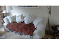 John Lewis cream 3 seater sofa