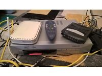 tv box + remote, internet router and modem + all wiring, 40 POUND