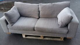 3 seater sofa from next good condition in grey