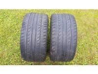 "x2 20"" Tyres 285/30/20 Part Worn 4mm Tread 285/30ZR20 99Y XL"