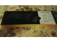 ADVENT WIRELESS KEYBOARD AND MOUSE COMBO AS NEW BOXED