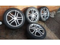 "GENUINE MERCEDES BENZ A B C CLASS W204 W176 W246 17"" ALLOY WHEELS A2464010302"