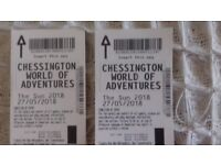chessington tkts x 2 27/5/2018 bank holiday