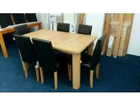 £155 - Shenley Extendable Dining Table with 6 chocolate chairs - new and unused - delivery available